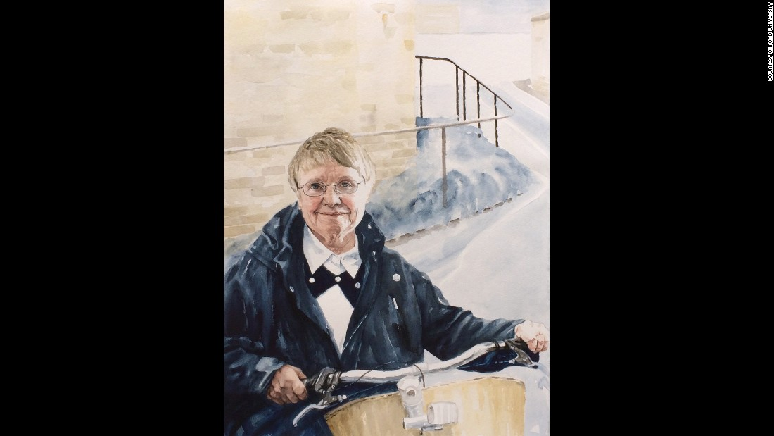 Kathy Sylva, a professor of educational psychology, was painted by Pippa Thew.
