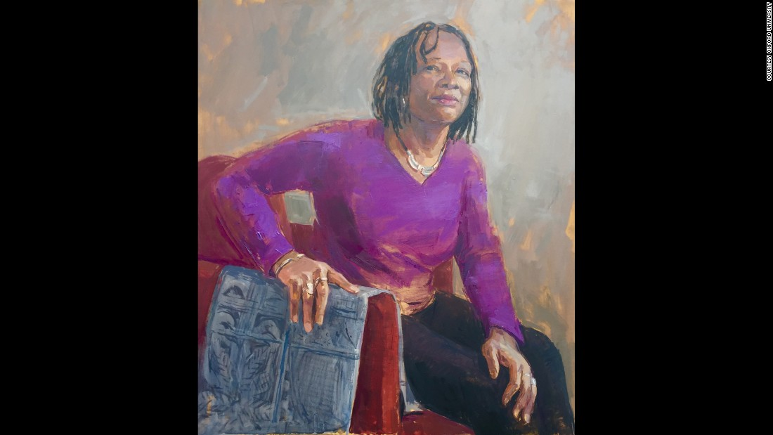 Patricia Daley is a professor of the human geography of Africa at Jesus College, Oxford. She was painted for the new series by artist Binny Mathews.