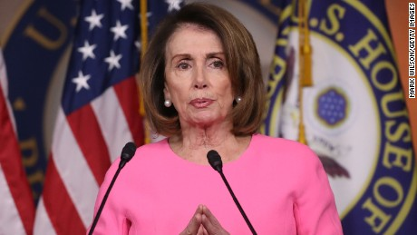 House Minority Leader Nancy Pelosi speaks during her weekly news conference, on Capitol Hill March 30, 2017 in Washington, DC.
