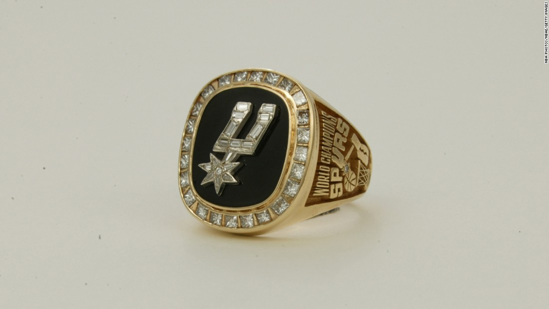 Ever seen spurs made of diamonds and gold? You have now. This ring comes from the San Antonio Spurs' championship season in 1998-99.