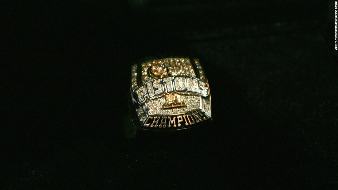 This ring was created for the Detroit Pistons' championship in 2004.