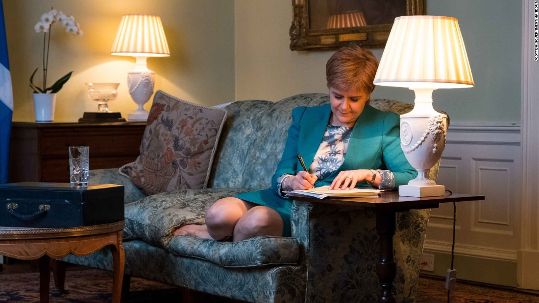 Is Sturgeon Trolling May With Referendum Photo?