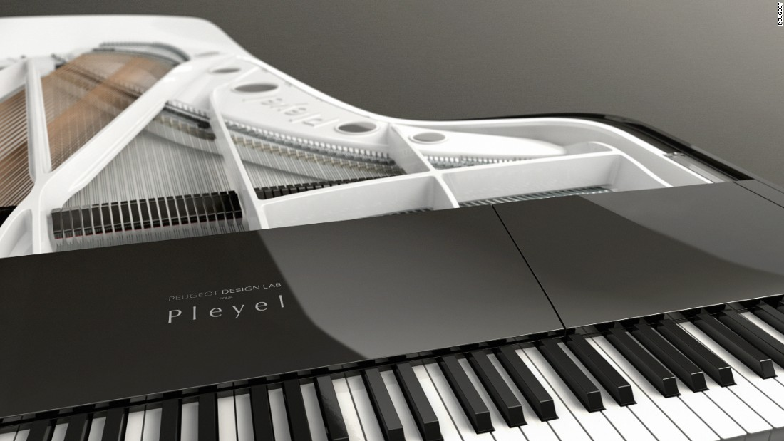 Peugeot's design team lowered the mechanics of the piano, allowing more of the audience to have a clearer view of the artist during a performance.