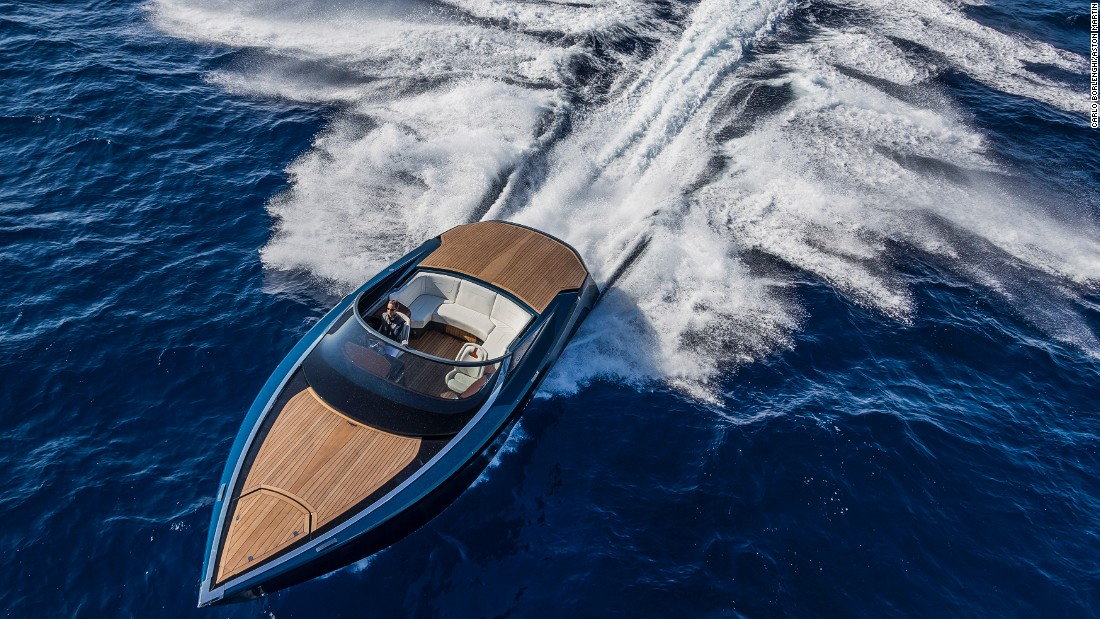 Aston Martin's design influence is clearly visible on the British sports car manufacturer's joint venture with Quintessence Yachts: the AM37.