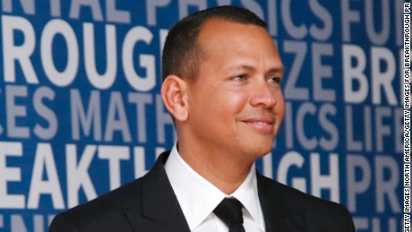 Alex Rodriguez attends the 2017 Breakthrough Prize at NASA Ames Research Center on December 4, 2016 in Mountain View, California.  (Photo by Kimberly White/Getty Images for Breakthrough Prize)
