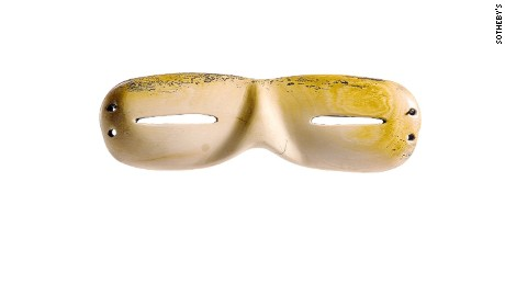 A Pair of Mammoth Tusk Chukchi Snow Goggles