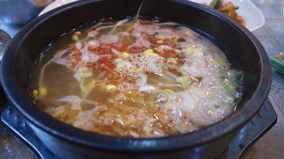 Jeonju city is known for its kongnamul gukbap -- a bean sprout soup.