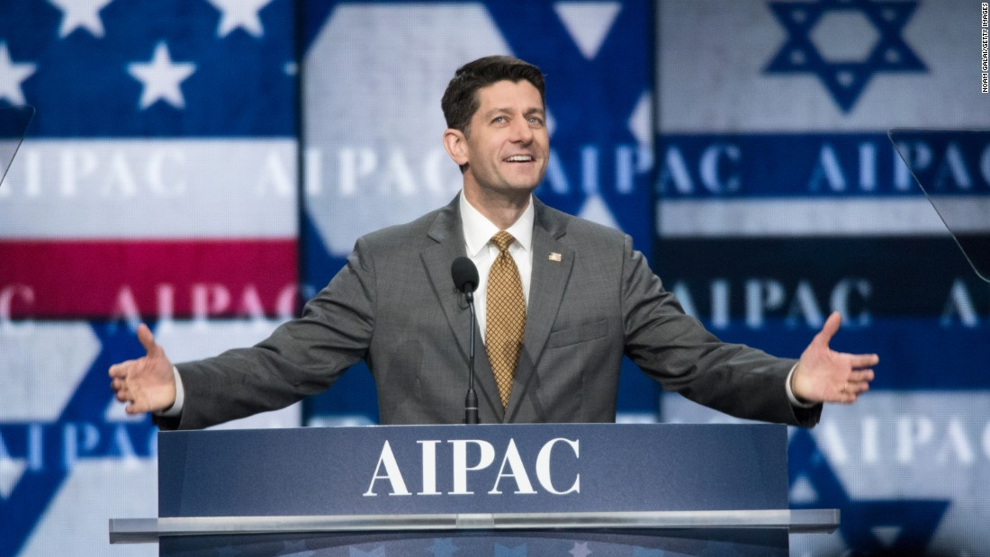"House Speaker Paul Ryan attends the annual policy conference of the American Israel Public Affairs Committee on Monday, March 27. During <a href=""http://www.cnn.com/videos/politics/2017/03/27/paul-ryan-entire-aipac-speech-march-27-sot.cnn"" target=""_blank"">his speech,</a> Ryan said President Trump and the United States stand firmly behind Israel."
