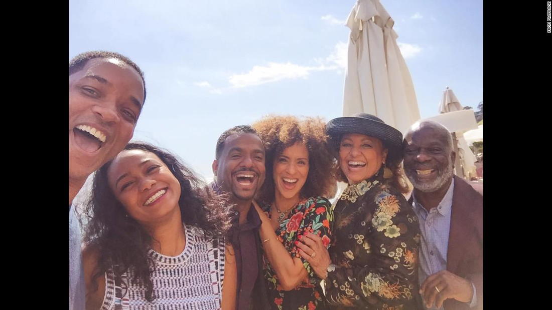 "Actor Will Smith, left, takes a photo with other cast members from the '90s show ""The Fresh Prince of Bel-Air"" on Tuesday, March 28. Next to Smith, from left, are Tatyana Ali, Alfonso Ribeiro, Karyn Parsons, Daphne Maxwell Reid and Joseph Marcell. ""Lunch with my BFF's,"" <a href=""https://www.facebook.com/92304305160/photos/a.231136370160.270995.92304305160/10158289671575161/?type=3&theater"" target=""_blank"">Smith said on Facebook.</a> ""I missed my Uncle Phil today."" Smith was referring to James Avery, the actor who played Uncle Phil on the show and died in 2013."