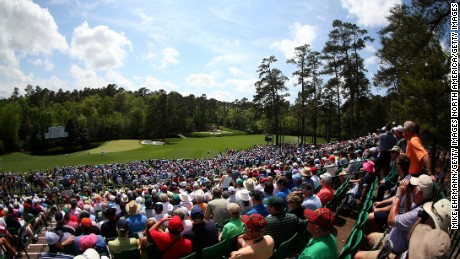 AUGUSTA, GA - APRIL 12:  Patrons watch play at Amen Corner during the second round of the 2013 Masters Tournament at Augusta National Golf Club on April 12, 2013 in Augusta, Georgia.  (Photo by Mike Ehrmann/Getty Images)