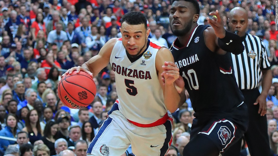 Gonzaga downs South Carolina, advances to first NCAA men's ...
