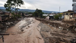 General view of damages caused by mudslides following heavy rains in Mocoa, Putumayo department, southern Colombia on April 2, 2017.
