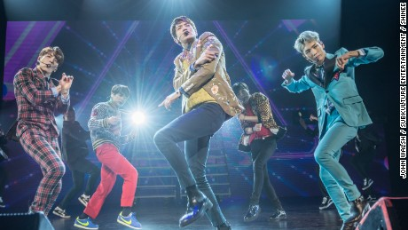 SHINee performing at the Verizon Theatre at Grand Prairie in Dallas on March 24