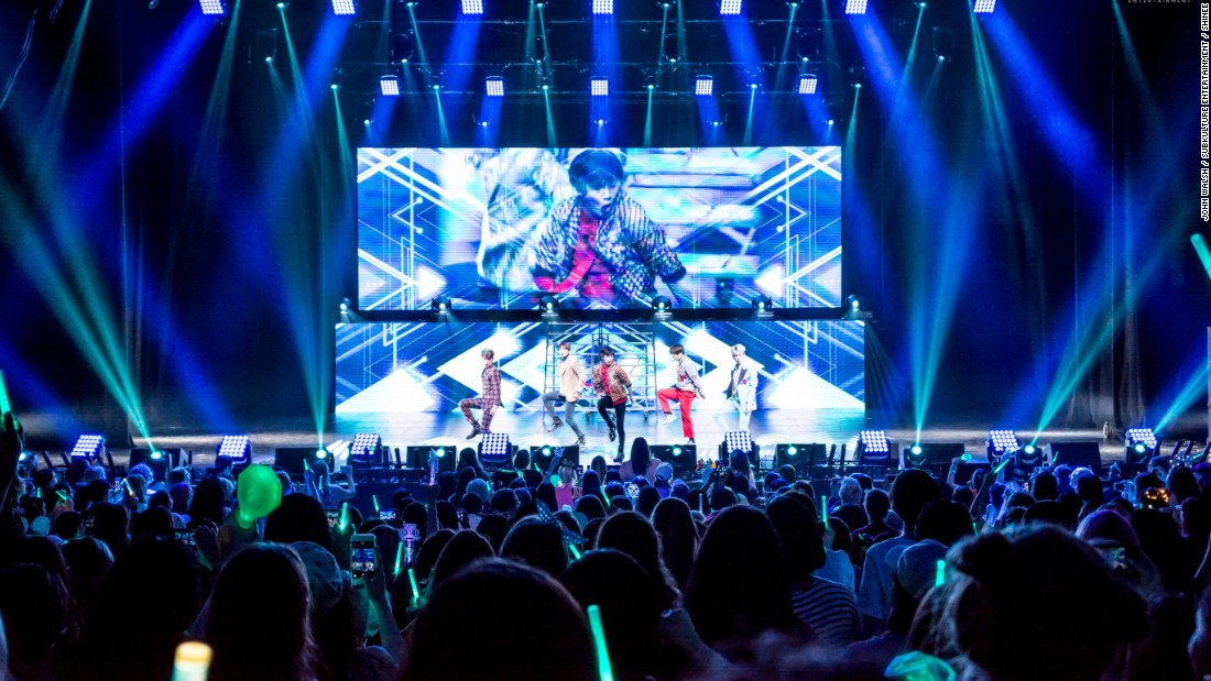 K-pop band SHINee in Dallas