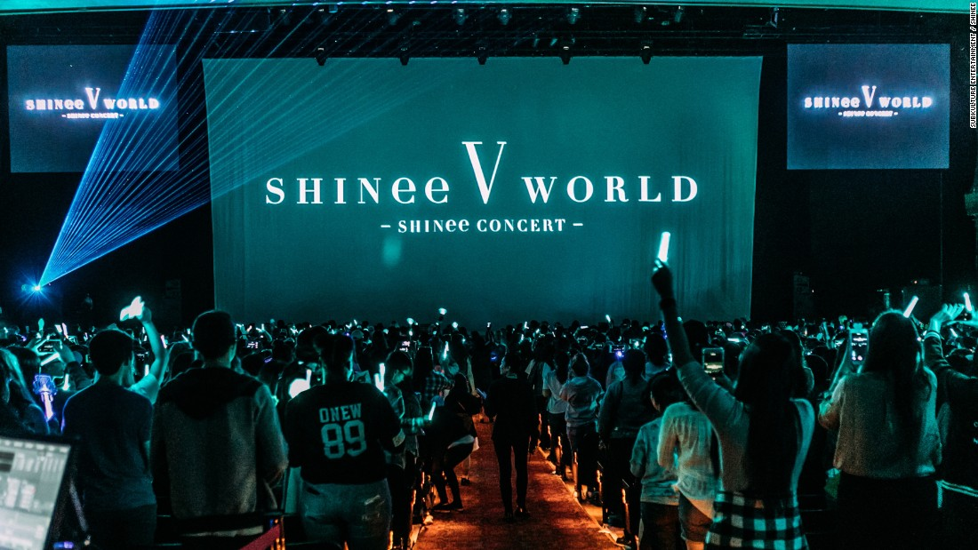 SHINee concert at the Shrine Auditorium in Los Angeles on March 26