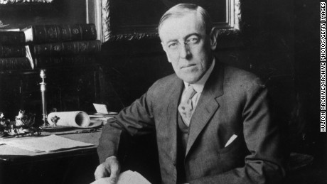 President Woodrow Wilson is depicted as one of the most tragic figures from the war.