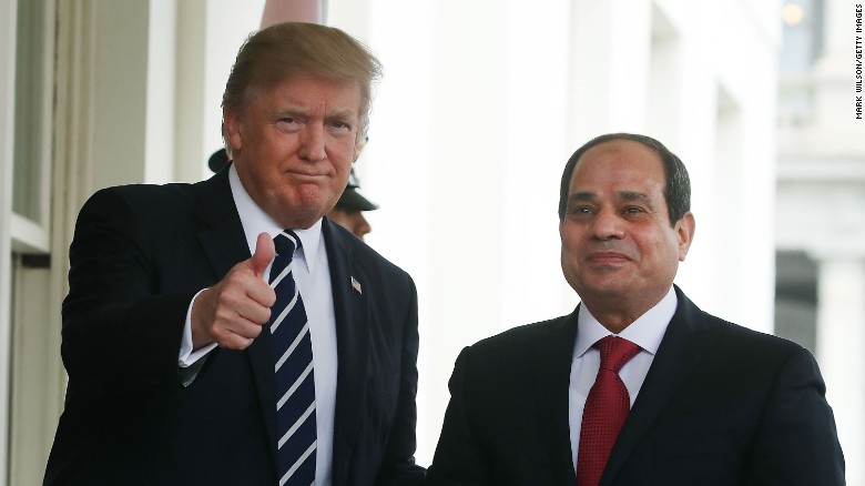 Image result for trump meets al sisi