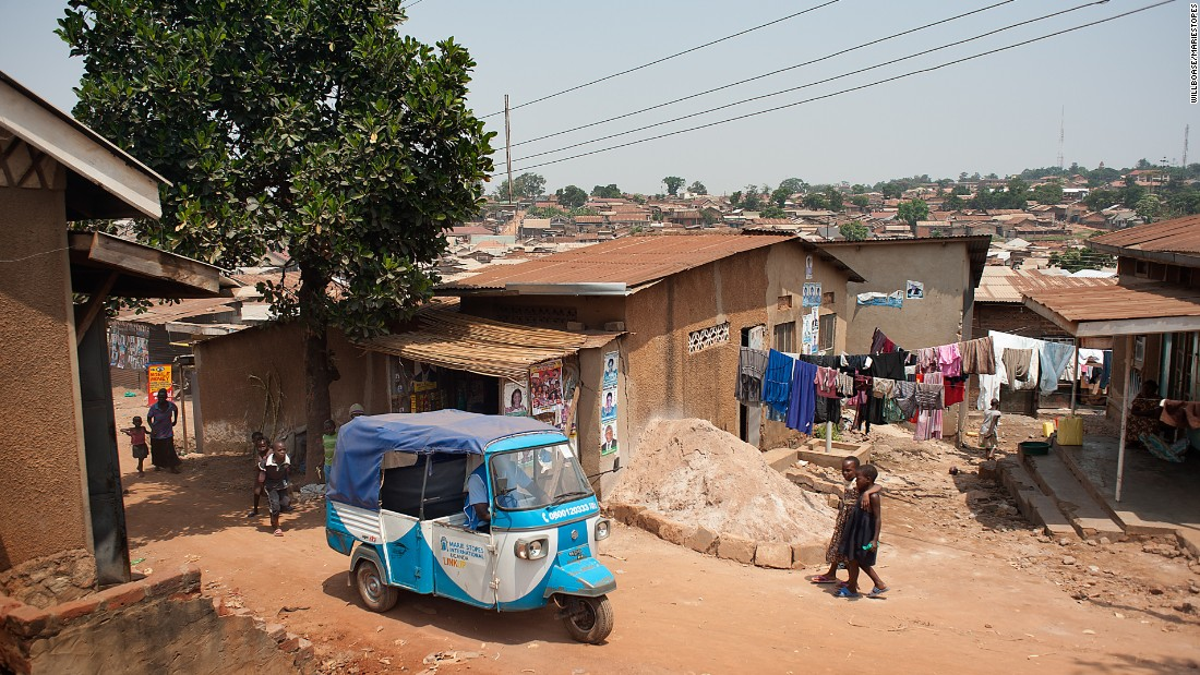"A Marie Stopes mobile tuk-tuk health clinic in Makindye Division, Kampala. Marie Stopes Uganda says its outreach work is currently 94% funded by USAID, but it cannot comply with the Mexico City Policy and turn its back on ""the women that need it most."""