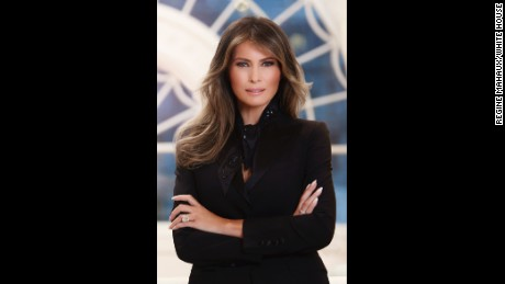 The first lady's official portrait, taken by Regine Mahaux.