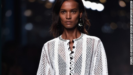 PARIS, FRANCE - OCTOBER 01:  Model Liya Kebede walks the runway during the Louis Vuitton show as part of the Paris Fashion Week Womenswear Spring/Summer 2015 on October 1, 2014 in Paris, France.  (Photo by Pascal Le Segretain/Getty Images)