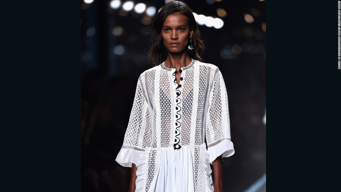 Pictured here, Liya Kebede walks the runway during the Louis Vuitton show  2014 in Paris. According to Forbes, in 2007, she was placed eleventh in 20 of the World's highest-paid top model list. <br /><br />Born in Addis Ababa, Ethiopia, Kebede moved to Paris at the age of 18 and has appeared on the cover of Vogue. Her latest campaign for  Amazon Fashion features her 'natural' curls.