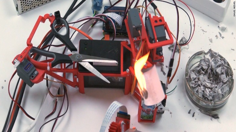 Engineer built a robot to burn Trump's tweets