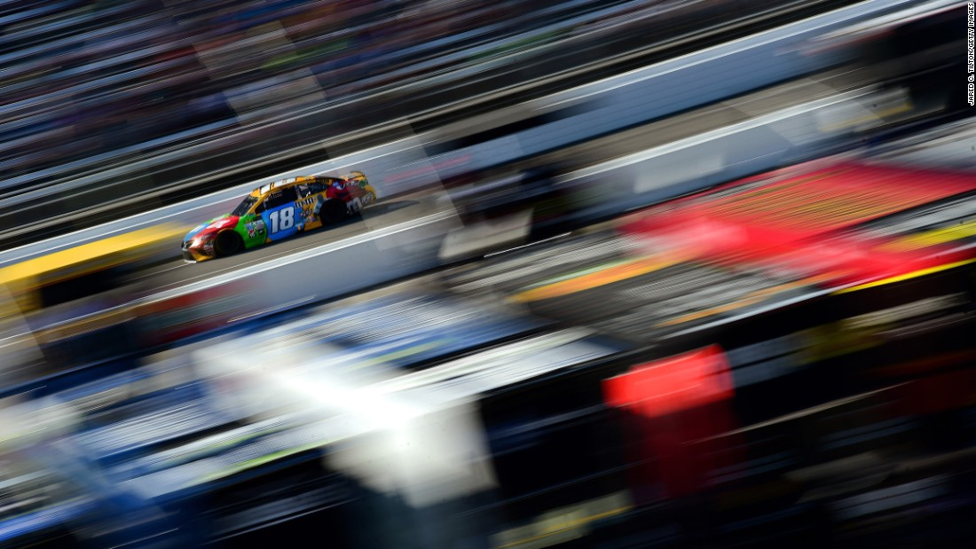 NASCAR driver Kyle Busch races during the Cup Series race in Martinsville, Virginia, on Sunday, April 2.