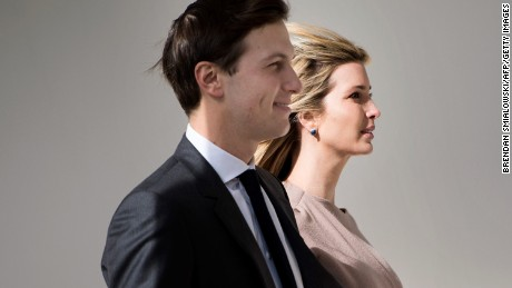 Ivanka Trump and her husband White House senior advisor Jared Kushner at the White House in February.