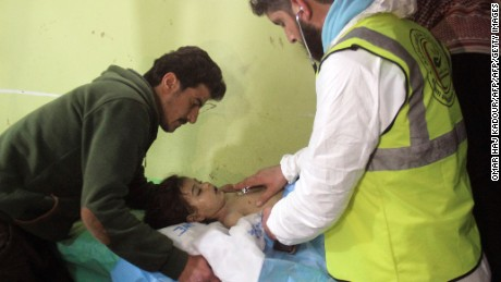 Video shows gas attack aftermath