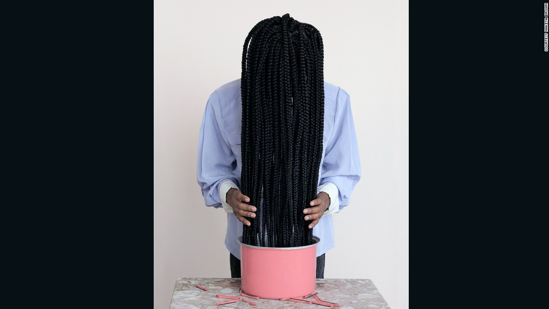 "<a href=""http://nakeyab.tumblr.com/"" target=""_blank"">Nekeya Brown</a> uses hair as a tool to talk about identity, body image, self-care, popular culture and the contemporary black psyche."