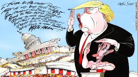 From Churchill to Trump, Gerald Scarfe captures the ugly side of politics