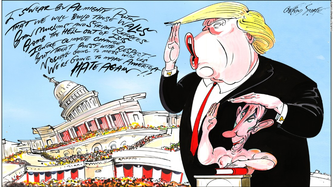 British artist Gerald Scarfe is one of the world's best-known political cartoonists.
