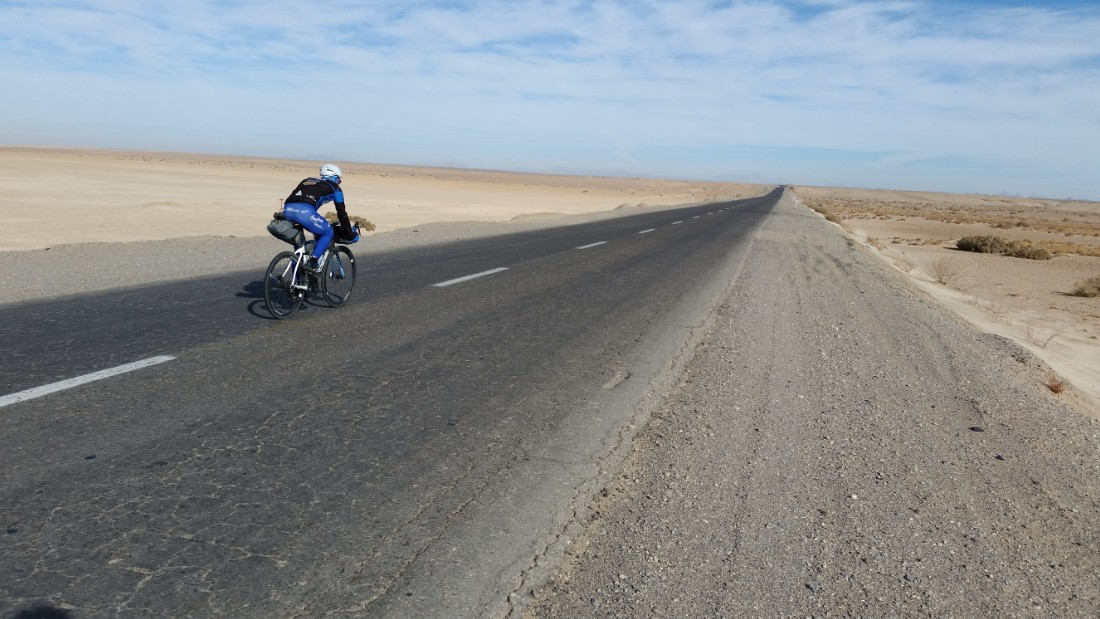 Zurl cycled in Iran in December as part of his training for his Cuba challenge