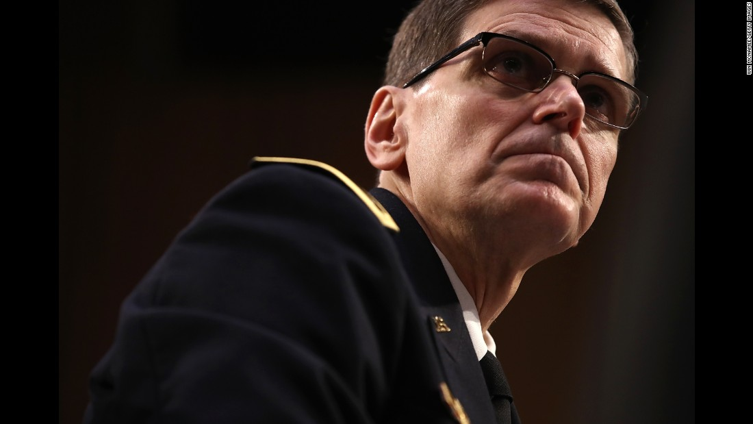 "Army Gen. Joseph Votel, commander of US Central Command, testifies before the Senate Armed Services Committee on Thursday, March 9. Votel was updating the committee on operations in Afghanistan and Syria. He also <a href=""http://www.cnn.com/2017/03/09/politics/general-votel-seal-raid-yemen-hearing/"" target=""_blank"">accepted full responsibility</a> for a controversial January raid that resulted in the death of a Navy SEAL and several civilians in Yemen."