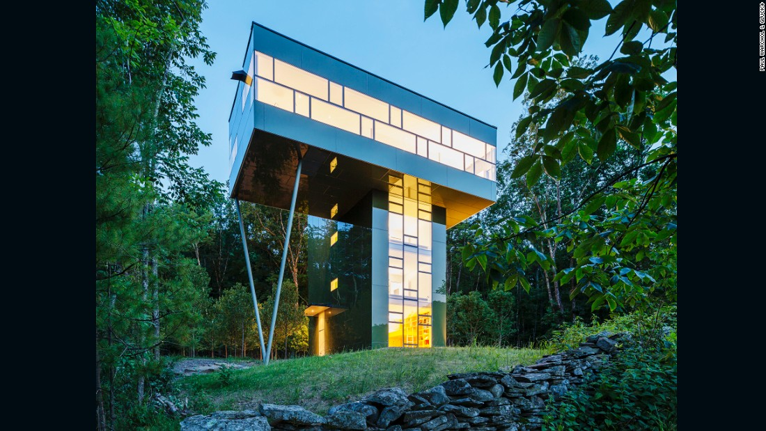"The 2,545-square-foot Tower House is a vacation home designed by and for <a href=""https://gluckplus.com/"" target=""_blank"">Thomas Gluck</a>. First three levels are personal suites, and the top floor, rising 30 feet above the ground, is a living space with an external deck."