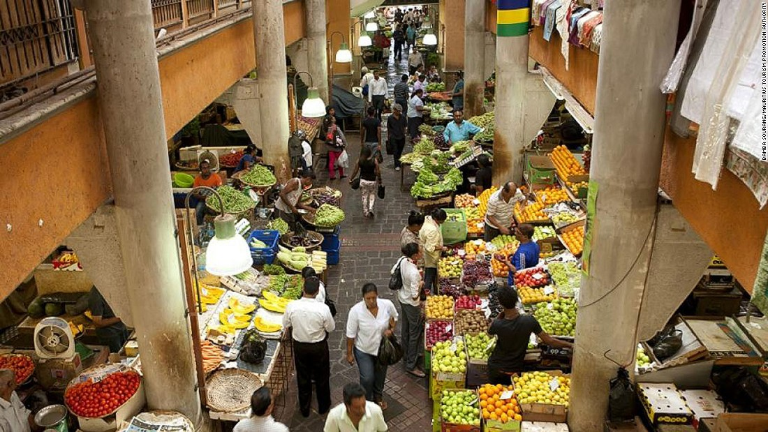 <strong>Central Market -- </strong>Having undergone a makeover a few years ago, the Central Market in Port Louis is where to find fresh Mauritian produce as well as a food hall with fresh juices and local street eats.