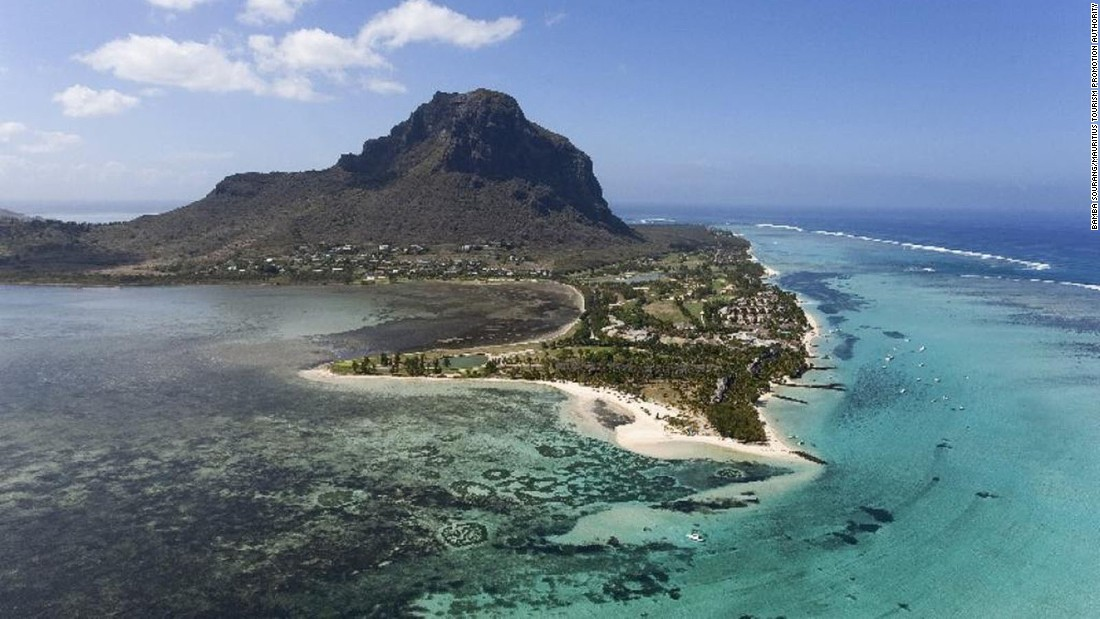 <strong>Le Morne -- </strong>The mountain at Le Morne was once a refuge for escaped slaves. With cliffs on three sides, the beautiful mountaintop provided an easily defensible site.