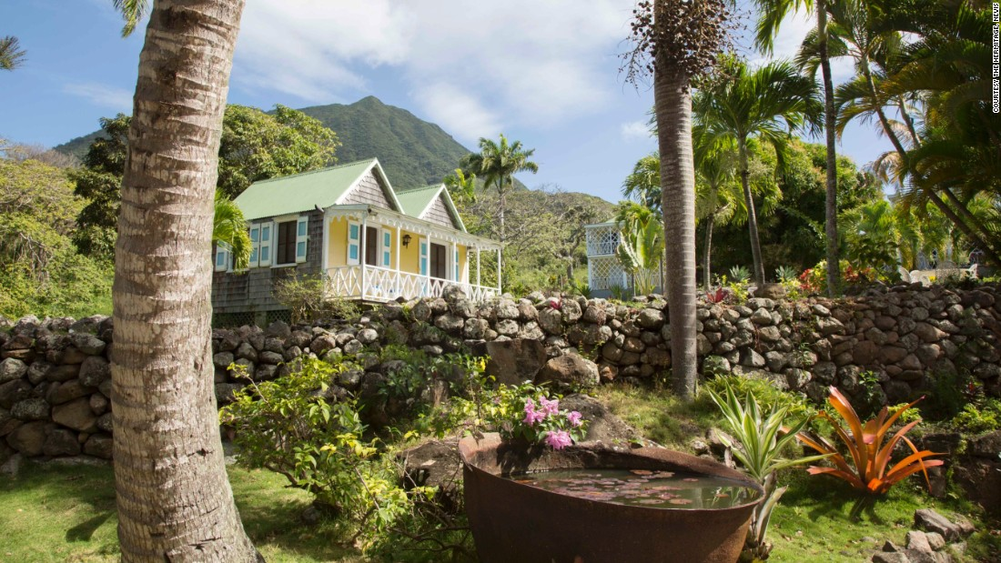 <strong>The Hermitage</strong> -- Views of Nevis Peak are ubiquitous on the island.