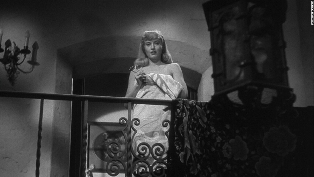 "Barbara Stanwyck plays the manipulative Phyllis Dietrichson in Billy Wilder's ""Double Indemnity,"" in which she plots to have her husband killed for the insurance money."