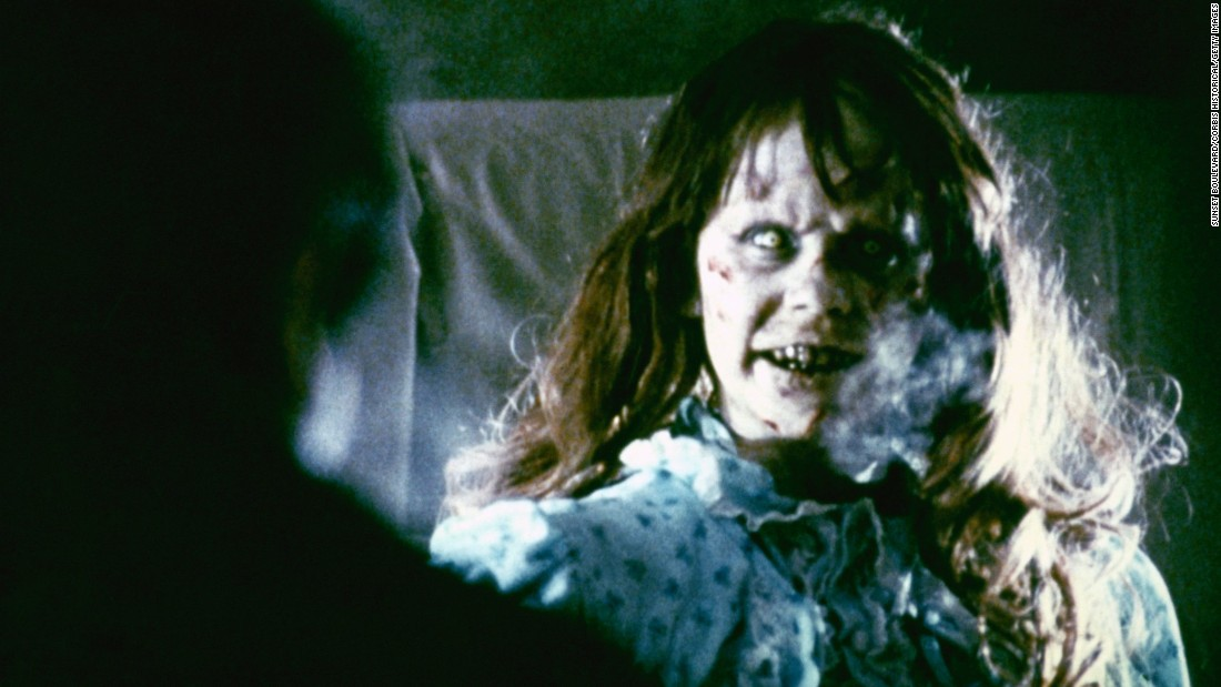 "Regan MacNeil becomes possessed with a demonic spirit in ""The Exorcist."" Linda Blair was nominated for an Oscar for best actress in a supporting role for her head-spinning performance."