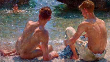 Henry Scott Tuke (1858-1929) The Critics 1927 Oil on board 412 x 514 mm Warwick District Council (Leamington Spa, UK)
