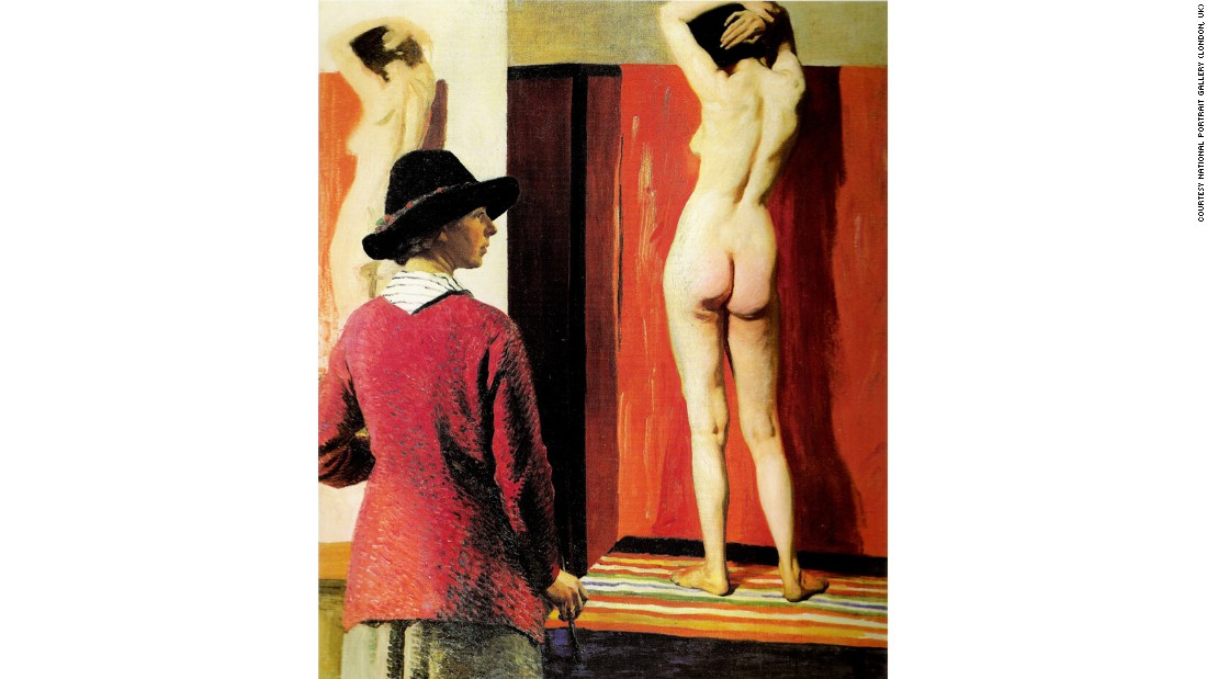 Here, Laura Knight has depicted herself painting a friend. The painting was denounced as vulgar when it was first unveiled.