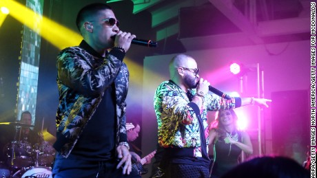 MIAMI, FL - JULY 14:  Chino Y Nacho perform during McDonald's All Day Breakfast Bash At Premios Juventud After Party Presented By McDonald's on July 14, 2016 in Miami, Florida.  (Photo by John Parra/Getty Images for McDonald's )