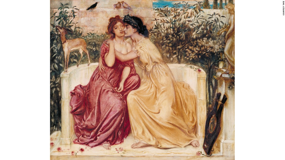Born to a family of artists, Simeon Solomon often included same-sex themes in his work. He was a part of the Pre-Raphaelite Brotherhood.