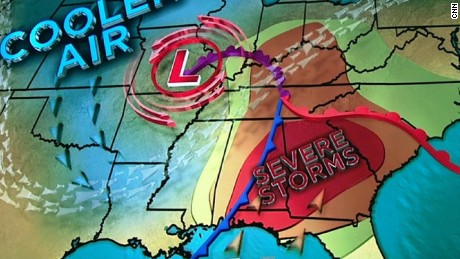 Severe weather threatens Southeast