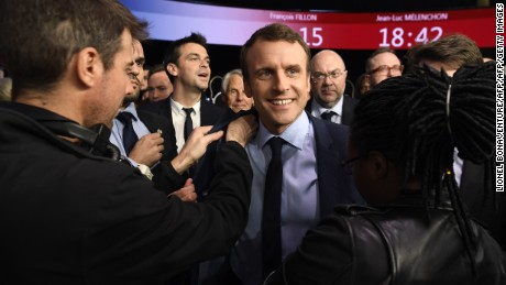 Emmanuel Macron appears set to make it through to the second round of voting on May 7.