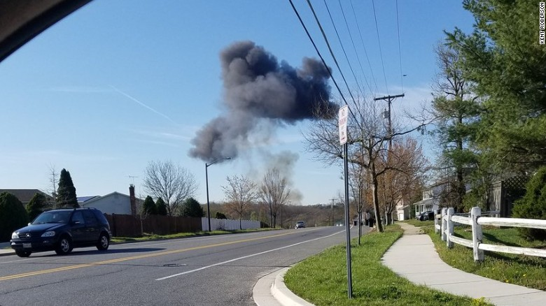 F-16 jet crashes in Maryland