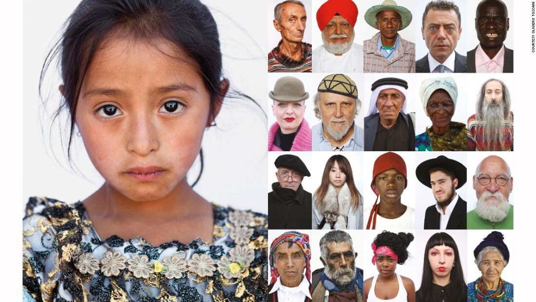 "For his most recent project, ""<a href=""http://www.razzaumana.it/index.php?lang=en"" target=""_blank"">Razza Humana</a>"" (The Human Race), Toscani took portraits of people from around the world to ""capture the face of humanity."""
