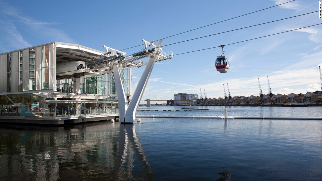 "Rising nearly 300 feet above the river, <a href=""http://www.emiratesairline.co.uk/"" target=""_blank"">the Emirates Air Line</a> is London's newest form of transportation. Streams of cable cars can move across the Thames in under ten minutes."
