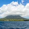 nevis from water